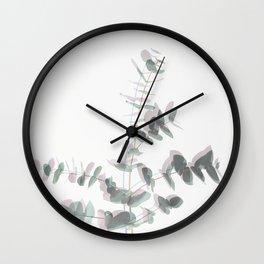 Eucalyptus Shadows Wall Clock
