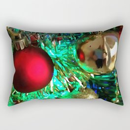 Baubles, Beads and Tinsel Holiday Decor Rectangular Pillow