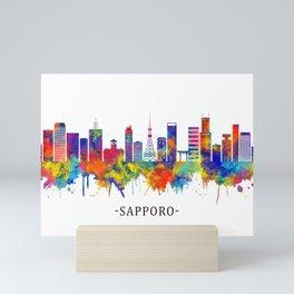 Sapporo Japan Skyline Mini Art Print
