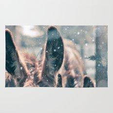 Snowing Donkey Rug