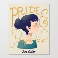 pride and prejudice Canvas Prints featuring Pride and Prejudice by Nan Lawson