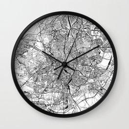 Madrid White Map Wall Clock