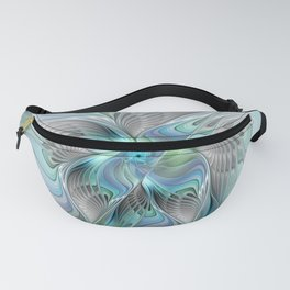 Abstract Butterfly, Fantasy Fractal Art Fanny Pack
