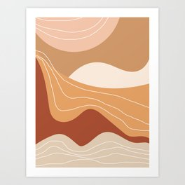 Abstract Desert Art Print