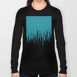 Concrete Fringe Teal Long Sleeve T-shirt