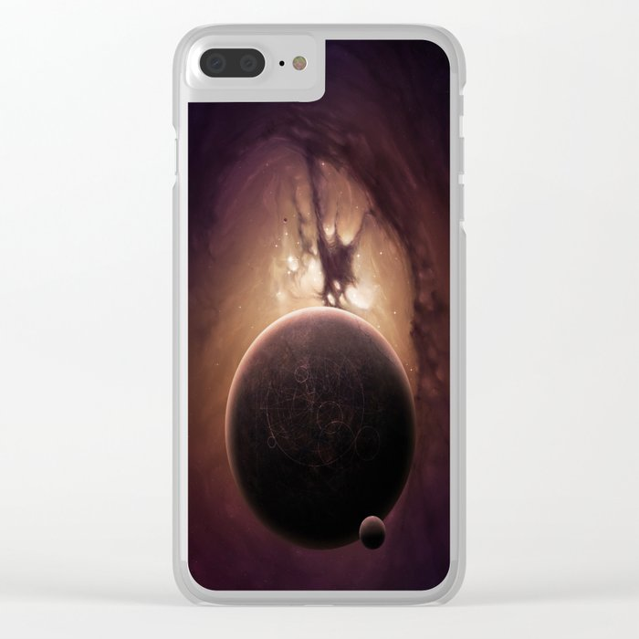 Strangers Planet Clear iPhone Case
