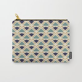 DECO - teal navy gold ivory diamond artdeco pattern Carry-All Pouch