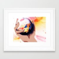 charizard Framed Art Prints featuring Charizard by ALynnArts