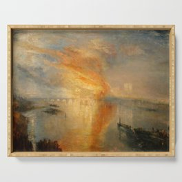 """J.M.W. Turner """"The Burning of the Houses of Lords and Commons""""(1835) Serving Tray"""