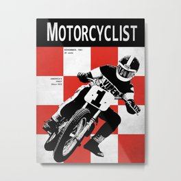 Motorcycle Magazine Number One 1961 Metal Print