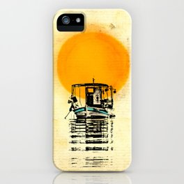 Sunset Boat Silhouette iPhone Case