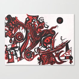 Red Details Canvas Print