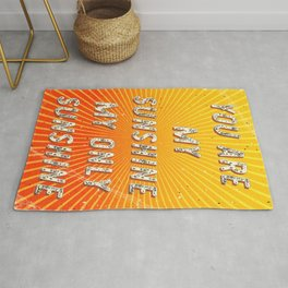 You are my Sunshine my only Sunshine- A Hell Songbook Edition Rug