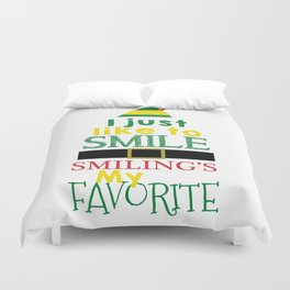 I just like to Smile - Buddy the Elf Duvet Cover