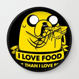 I love food more than I love people Wall Clock