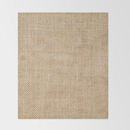 Burlap Fabric Throw Blanket
