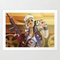 tank girl Art Prints featuring Tank Girl by Liam Brazier