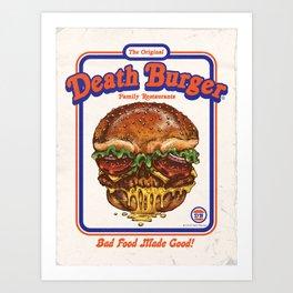 DEATH BURGER Art Print