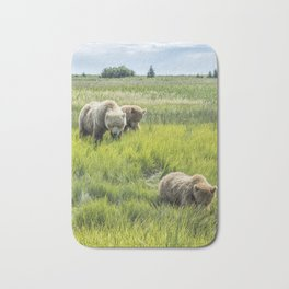 A Mother and Her Two Cubs, No. 3 Bath Mat