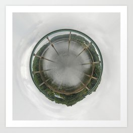 Bridge Planet Art Print
