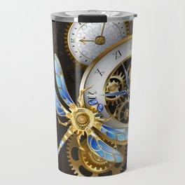 Dials with Dragonfly ( Steampunk ) Travel Mug