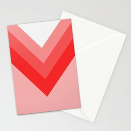 Red and Pink Chevrons Stationery Cards