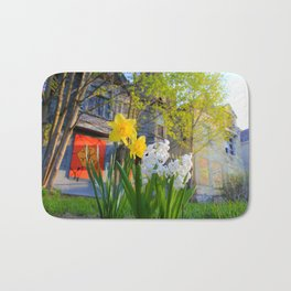 Daffodils and Dilapidation Bath Mat