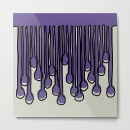 Running to you Ultra Violet Metal Print