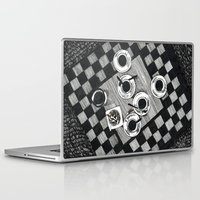 cigarettes Laptop & iPad Skins featuring Coffee and Cigarettes by Aleksandra Kabakova