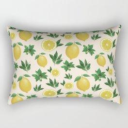 Lemon Love Pink Rectangular Pillow