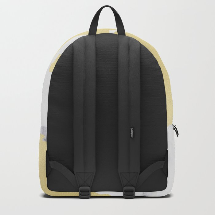 World Map Marble Gold Rush Backpack