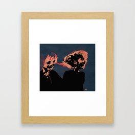 Two Old Supermodels  Framed Art Print