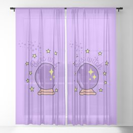 Basic Witch - Funny Halloween Design Sheer Curtain