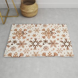Snowflake Collection – Rose Gold Palette Rug