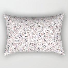 Retro , polka dot Rectangular Pillow