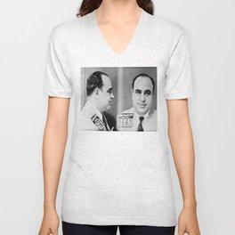 Al Capone Mugshot  Unisex V-Neck