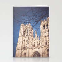 brussels Stationery Cards featuring Brussels Cathedral by Ghdv Grafias