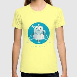 Apollo 11 Lunar Lander Module - Text Cyan T-shirt