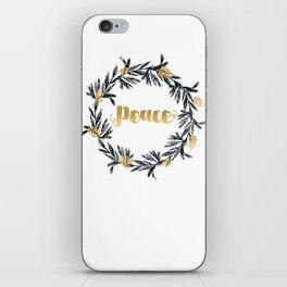 Christmas Wreath Peace iPhone Skin