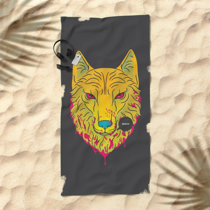 The Unbridled Anger of a Decapitated Direwolf Beach Towel