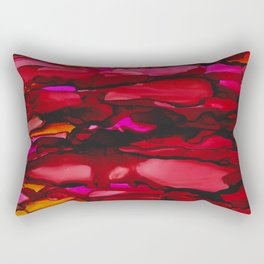 Ruby River Ripples Rectangular Pillow