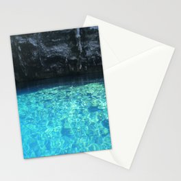 Turquoise blue water Melissani cave Kefalonia, Greece Stationery Cards