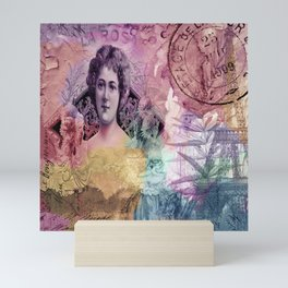 La Rosa Collage - Color Mini Art Print