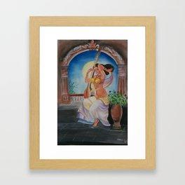 Traditional Girl- Water Color Art Framed Art Print