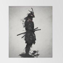 Armored Samurai Throw Blanket