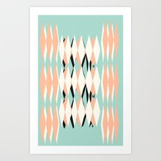 Atomic Harlequin Art Print
