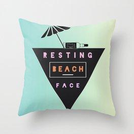 Beach Mode Throw Pillow
