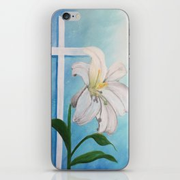 Easter Lilly Cross iPhone Skin
