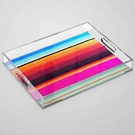 Magenta Sky Serape Acrylic Tray