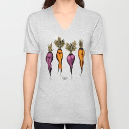 Sexy carrots botanical chart tattoo flash Unisex V-Neck